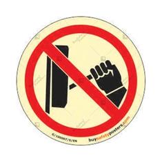 Photo Luminescent Do Not Operate Round Warning  Sign