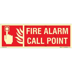 Fire Alarm Call Point Glow In The Dark Signboard