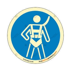 Fall Protection Body Harness Auto Glow Sign