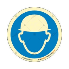 Wear Helmet Round Auto Glow Sign