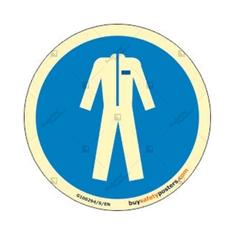 Mandatory Protective Clothing Round Glowing Sign