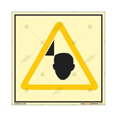 Mind Your Head Square Autoglow Warning Sign