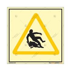 Slip Hazard Autoglow Warning Sign