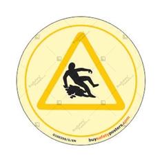Slip Hazard Glow In The Dark Warning Sign