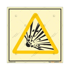 Explosion Warning Autoglow Sign