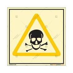 Toxic Warning Autoglow Sign