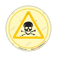 Toxic Warning Glow In The Dark Sign