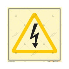 High Voltage Warning Photoluminescent Sign