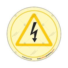 High Voltage Warning Glow In The Dark Sign
