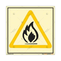 Flammable Warning Autoglow Sign