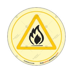 Flammable Warning Photoluminescent Sign