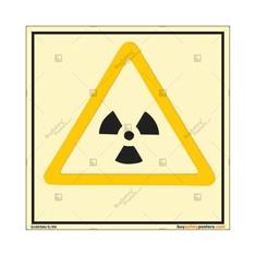 Ionizing Radiation Danger Autoglow Signboard