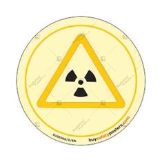 Ionizing Radiation Danger Glowing Display Board