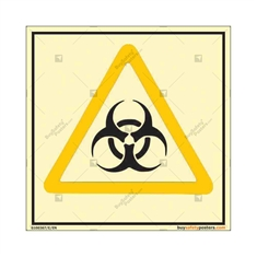 Biological Hazard Autoglow Signboard