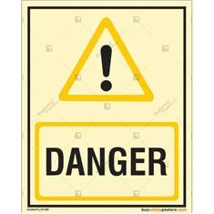 Danger Photoluminescent Signboard