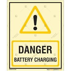 Danger Battery Charging Autoglow Signs