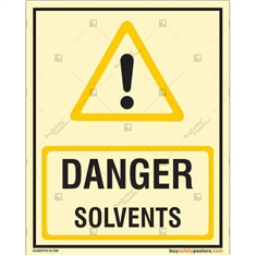 Danger Solvents Glowing Signboard