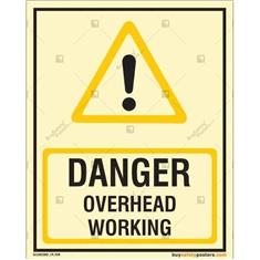 Danger Overhead Working Autoglow Signboard