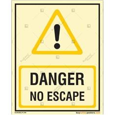Danger No Escape Glowing Signboard