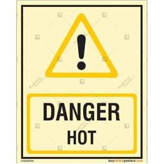 Danger Hot Glow In The Dark Signboard