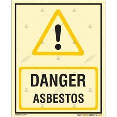 Danger Asbestos Autoglow Signboard
