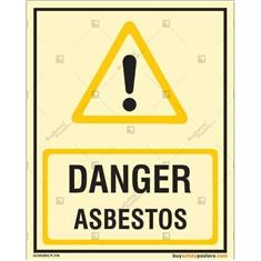 Danger Asbestos Glow In The Dark Signboard