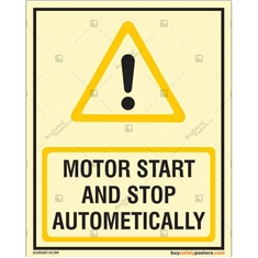 Motor Start And Stop Automatically Glow In The Dark Signboard