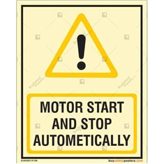 Motor Start And Stop Automatically Glow In Signs