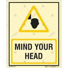 Mind Your Head Auto Glow Signboard