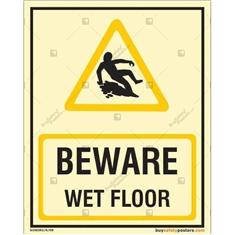 Beware Wet Floor Auto Glow Signboard