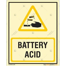 Battery Acid Glow In The Dark Signs
