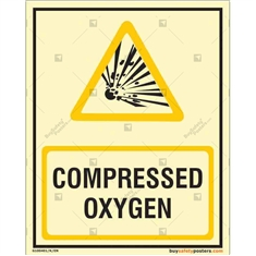 Compressed Oxygen Glow In The Dark Signs