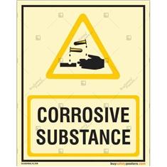 Corrosive Substance Autoglow Signboard