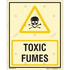 Toxic Fumes Photoluminescent Signboard