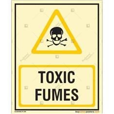 Toxic Fumes Autoglow Signboard