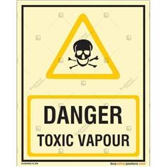 Danger Toxic Vapour Autoglow Signboard