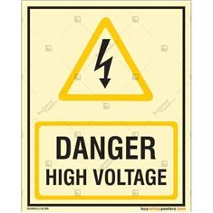 Danger High Voltage Glow In The Dark Sign