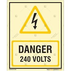 240 Volts Photoluminescent Signboard
