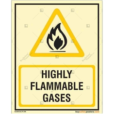 Highly Flammable Gases Glow In The Dark Signboards