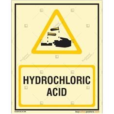 Hydrochloric Acid Autoglow Signboard