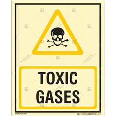 Toxic Gases Autoglow Signboard