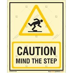 Danger Mind The Step Autoglow Signboard