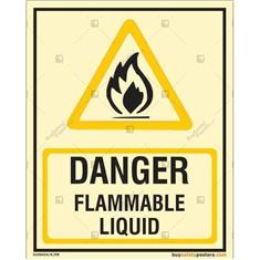 Danger Flammable Liquid Glow In The Dark Sign