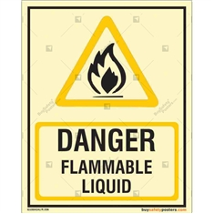 Danger Flammable Liquid Autoglow Signboard