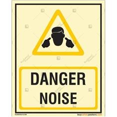 Danger Noise Glowing Signboard
