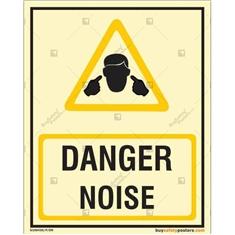Danger Noise Photoluminescent Signboard