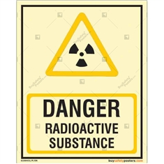 Danger Radioactive Substance Glow In The Dark Signboard