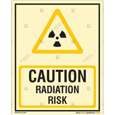Caution Radiation Risk Autoglow Sign