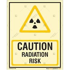 Caution Radiation Risk Glow In The Dark Sign