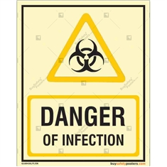 Danger Of Infection Glowing Sign